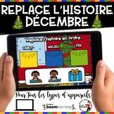 DÉCEMBRE French BOOM card-Replace l'histoire en ordre. (DÉ