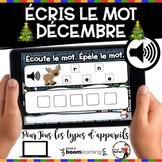 DÉCEMBRE French BOOM cards - Écoute et écris le nom (DÉCEM