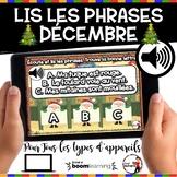 DÉCEMBRE French BOOM cards-Écoute et lis les phrases. (DÉC