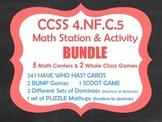 DECIMAL BUNDLE:  Add Tenths & Hundredths Centers/Activities CCSS 4.NF.C.5