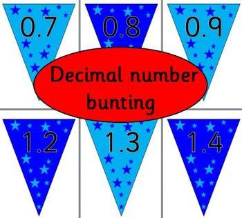 DECIMAL NUMBER BUNTING