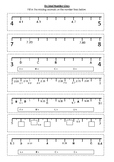 DECIMAL NUMBER LINE Worksheet 2 | Year 5 MATHS (ACMNA105)