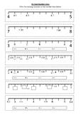 DECIMAL NUMBER LINE Worksheet 2 | Year 5 MATHS (ACMNA105)