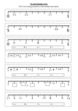 DECIMAL NUMBER LINE Worksheet | Year 5 MATHS (ACMNA105)