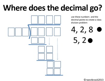 DECIMAL OPERATIONS POSTERS AND PRACTICE