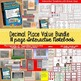 DECIMAL PLACE VALUE BUNDLE {111 PAGE INTERACTIVE NOTEBOOK AND 300 TASK CARDS}