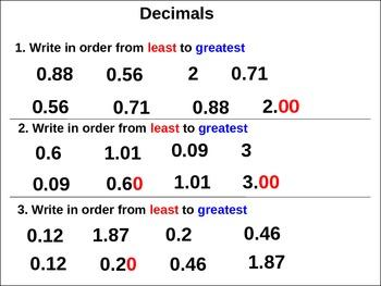Decimals: Compare Decimals II (animated)