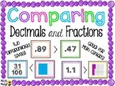 DECIMALS - COMPARING DECIMALS AND FRACTIONS