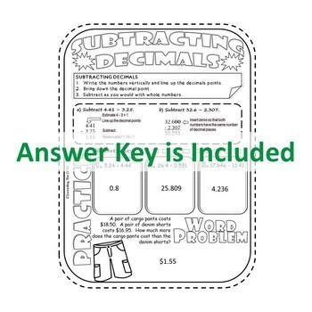 DECIMALS Doodle Notes - Interactive Math Notebooks ( Study Guides )