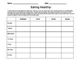 DECIMALS - HEALTHY EATING ACTIVITY