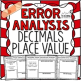 DECIMALS Place Value Error Analysis