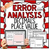 DECIMALS Place Value Error Analysis