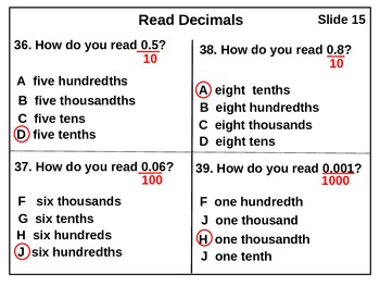 Decimal Test: Decimals to Thousandthsds (antimated)