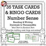 DECIMALS TO THOUSANDTHS MEGA PACK 35 TASK CARDS, BINGO, MATCH , SORT