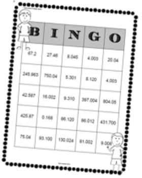 DECIMALS TO THOUSANDTHS MEGA PACK 35 TASK CARDS, BINGO, MATCH , SORT