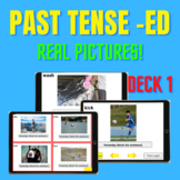 BOOM CARDS: Past Tense -ed Real Pictures, DECK 1