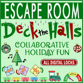 DECK THE HALLS Escape Room/Breakout ~ All Digital Locks ~CHRISTMAS/HOLIDAY FUN!