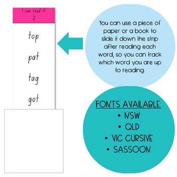 DECODABLE READING STRIPS (SYNTHETIC PHONICS)
