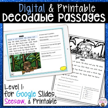DECODABLE TEXT PASSAGES PAIRS WELL WITH ORTON GILLINGHAM PHONICS FIRST