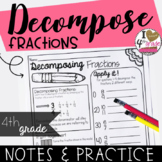 DECOMPOSE FRACTIONS  CCSS 4.NF.B.3B