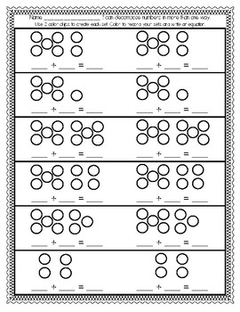 DECOMPOSE NUMBERS TO 10 IN MORE THAN ONE WAY (ADDITION)