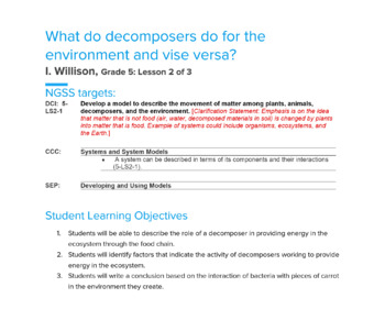 DECOMPOSER LESSON PLAN (5th Grade Science/ Biology)