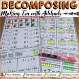 DECOMPOSING/MAKING TEN: NO PREP SHEETS