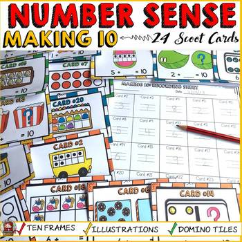 DECOMPOSING/MAKING TEN: SCOOT CARDS