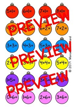 ADDITION ACTIVITIES: CHRISTMAS ADDITION GAME: CHRISTMAS MATH CENTER