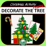 DECORATE THE CHRISTMAS TREE Christmas Activity for Kids FREEBIE