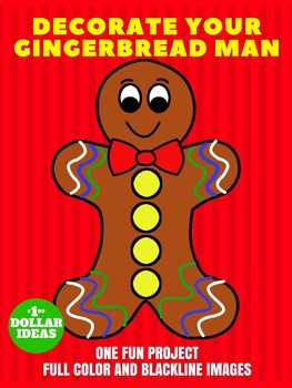 DECORATE YOUR GINGERBREAD MAN | CHRISTMAS CRAFTS FOR KIDS