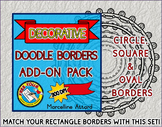 DOODLE BORDERS: WORKSHEET BORDERS: THIN BORDERS: BLACK AND