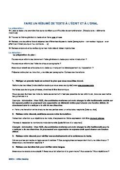 DELFB2 méthodologie pour réussir le résumé de texte écrit et oral