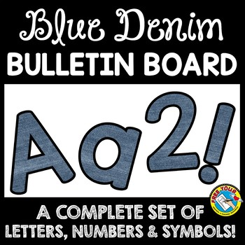 DENIM CLASSROOM DECOR BULLETIN BOARD LETTERS, NUMBERS AND SYMBOLS