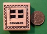 DENMARK Country/Passport Rubber Stamp