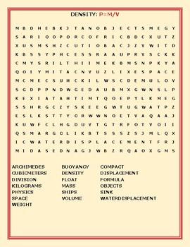 DENSITY: A FUN  WORD SEARCH