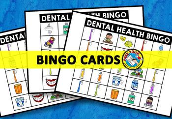 DENTAL HEALTH BINGO GAME (FEBRUARY ACTIVITIES) DENTAL HEALTH KINDERGARTEN