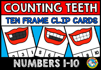 DENTAL HEALTH MATH CENTER (TEETH COUNTING CLIP CARDS) COUNTING CENTER