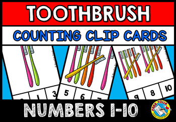 DENTAL HEALTH MATH CENTER (TOOTHBRUSH COUNTING CLIP CARDS) COUNTING CENTER