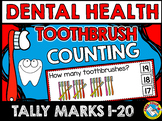 DENTAL HEALTH ACTIVITY KINDERGARTEN (TOOTHBRUSHES COUNTING) TALLY MARKS CENTER