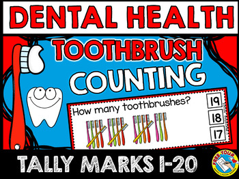 DENTAL HEALTH MATH CENTER (TOOTHBRUSHES COUNTING CLIP CARD