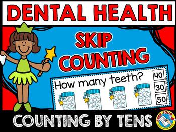 DENTAL HEALTH MATH (TEETH SKIP COUNTING CLIP CARDS) COUNTI