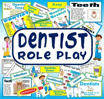 DENTIST ROLE PLAY CLEAN TEETH TEACHING RESOURCES SCIENCE KEY STAGE 1-2