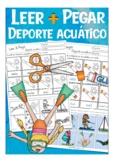 DEPORTE AQUÁTICO Cut & Glue (leer & pegar), Spanish water