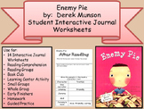 DEREK MUNSON Enemy Pie Interactive Student Journal Comprehension Sequence