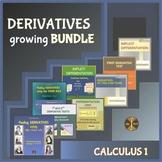 Calculus: DERIVATIVES growing BUNDLE of Activities & WS Pa
