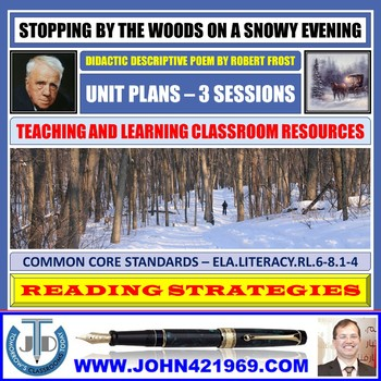 STOPPING BY THE WOODS - POEM ANALYSIS: LESSON & RESOURCES