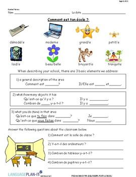 DESCRIBING YOUR SCHOOL (FRENCH)