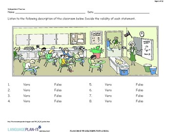 DESCRIBING YOUR SCHOOL (ITALIAN)