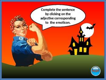 DESCRIPTIVE ADJECTIVES. Ghost hunter game. Grammar. Power Point